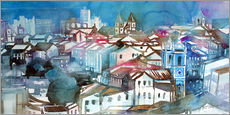 Tableau en plexi-alu  Brazil, Salvador Bahia, views of Igreja e Convento do Carmo - Johann Pickl