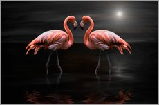 Sticker mural  Flamingos at night - Heike Langenkamp