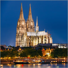 Sticker mural  Night view of Cologne Cathedral