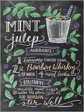 Sticker mural  Mint Julep recipe - Lily & Val