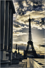 Colors of Eiffel Tower in Winter