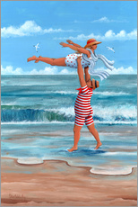 Sticker mural  Dirty Dancing sur la plage - Peter Adderley