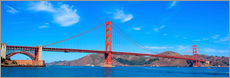 Sticker mural  Vue panoramique du pont du Golden Gate