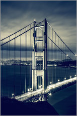 Tableau en plexi-alu  Pont du Golden Gate, San Francisco