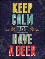 Tableau en plexi-alu  Keep calm and have a beer - Typobox