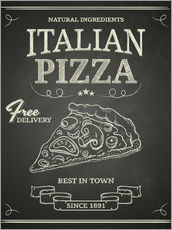 Sticker mural Pizza italienne (anglais)