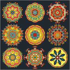 Sticker mural Mandala variations