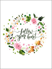 Tableau en plexi-alu  Follow your heart - Typobox