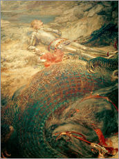 Tableau en plexi-alu  Saint George and the Dragon - Briton Riviere