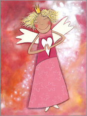 Sticker mural  Blonder guardian angel for girls - Atelier BuntePunkt