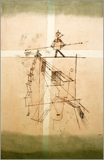 Tableau en plexi-alu  Tightrope Walker - Paul Klee