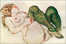 Sticker mural  Nude with green stockings - Egon Schiele