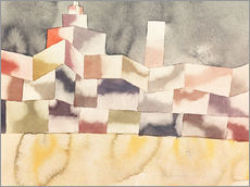 Sticker mural  Architecture in the Orient - Paul Klee