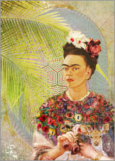 Sticker mural  Frida Kahlo avec un faon - Moon Berry Prints