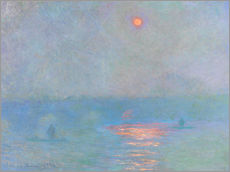 Sticker mural  Pont de Waterloo, soleil à travers le brouillard - Claude Monet