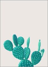 Sticker mural  Cactus turquoise - Finlay and Noa