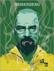 Sticker mural  Heisenberg, Breaking bad - 2ToastDesign