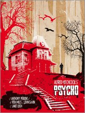 Sticker mural  Affiche alternative du film Psycho - 2ToastDesign
