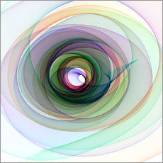 Colourful spiral