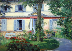 Sticker mural  Country house in Rueil - Edouard Manet