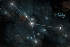 Sticker mural  An artist's depiction of the constellation Cancer. - Marc Ward