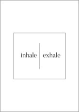 Sticker mural  Inhale | Exhale - Stephanie Wünsche