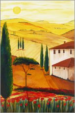 Sticker mural  Idylle toscane - Christine Huwer