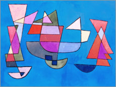 Sticker mural  Voiliers - Paul Klee