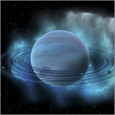 Sticker mural Artist's concept of planet Neptune.