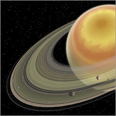 Sticker mural Artist's concept of planet Saturn.