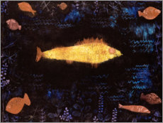 Tableau en aluminium  Le poisson d'Or - Paul Klee