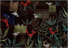 Tableau en plexi-alu  Bird Garden - Paul Klee