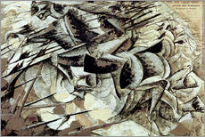Sticker mural  The Charge of the Lancers - Umberto Boccioni