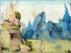 Sticker mural  Garden of Earthly Delights, paradise (detail) - Hieronymus Bosch