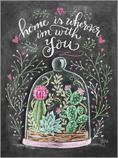 Sticker mural  Home is Wherever I'm with You - Lily & Val