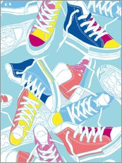 Tableau en plexi-alu  Sneakers urban design shoes art decor - Nory Glory Prints