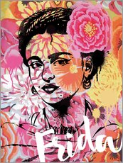 Sticker mural  Frida Kahlo Pop Art - Nory Glory Prints