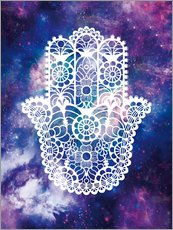 Sticker mural  Main khamsa florale - Nory Glory Prints