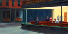 Tableau en plexi-alu  Nighthawks - Edward Hopper
