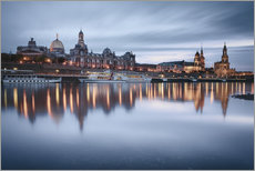 Sticker mural  Dresden old town at the blue hour - Philipp Dase