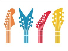 Sticker mural  Têtes de guitares - Nory Glory Prints