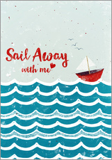 Sticker mural  Sail Away - Sybille Sterk