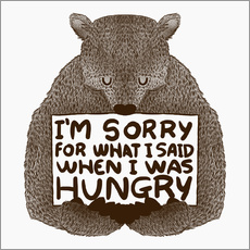 Sticker mural  When I was hungry - Tobe Fonseca