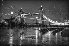 Sticker mural  Tower Bridge Tears London - Alex Saberi
