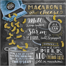 Sticker mural  Recette Macaroni and Cheese (anglais) - Lily & Val