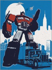Tableau en plexi-alu  Optimus prime, Transformers - 2ToastDesign