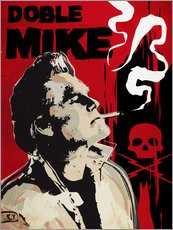 Tableau en plexi-alu  Doble Mike Death - 2ToastDesign