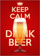 Sticker mural  Keep Calm And Drink Beer