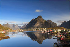 Tableau en plexi-alu  Refelction at Reine, Lofoten, Norway - Circumnavigation