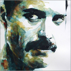 Sticker mural  Freddie Mercury - Paul Lovering Arts